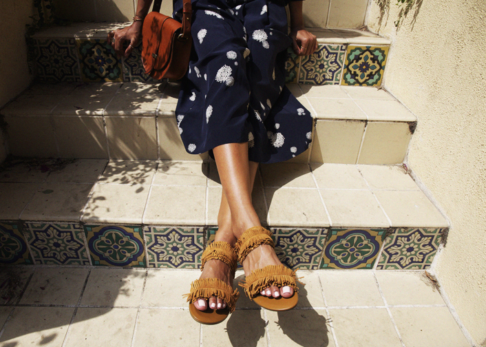 the most perfect fringe slip-ons!